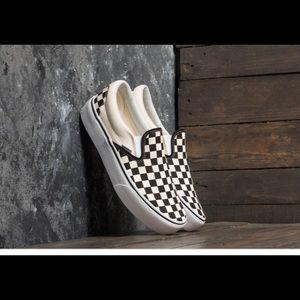 🏁 Vans Checkerboard Classic Slip On Platform